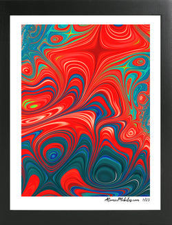 Atomic Print 1 - Bold Abstract Art Giclee by AtomicMobiles.com