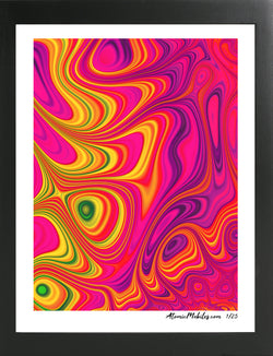 Atomic Print 13 - Bold Modern Abstract Art Giclee by AtomicMobiles.com