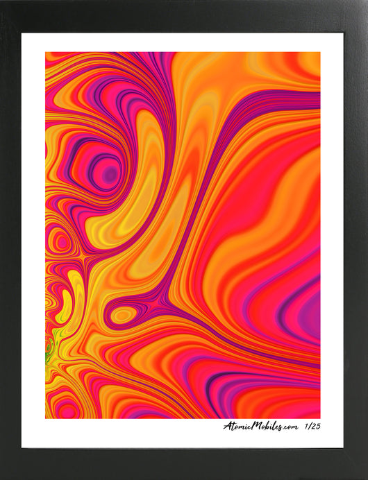 Atomic Print of Bold Modern Colorful Abstract Art by Debra Ann of AtomicMobiles.com