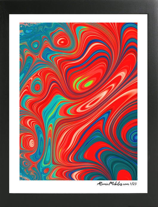 Atomic Art Print 2 - Bold Modern Abstract Giclee by AtomicMobiles.com