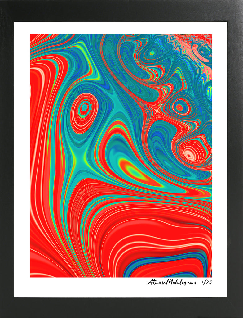 Atomic Art Print 3 - Modern Abstract Giclee by AtomicMobiles.com