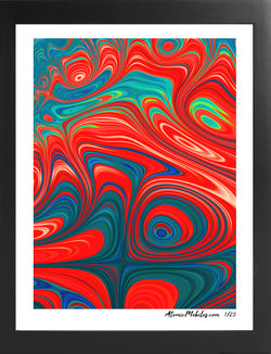 Atomic Art Print 4 - Modern Abstract Giclee by AtomicMobiles.com