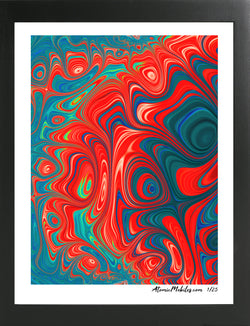 Atomic Print 5 - Bold Modern Abstract Art Giclee by AtomicMobiles.com