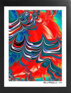 Atomic Art Print 6 - Modern Abstract Giclee by AtomicMobiles.com
