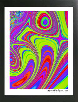 Atomic Art Print 7 - Modern Abstract Giclee by AtomicMobiles.com