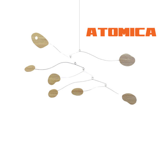 Bamboo Atomica Kinetic Mobiles - Sustainable Modern Art