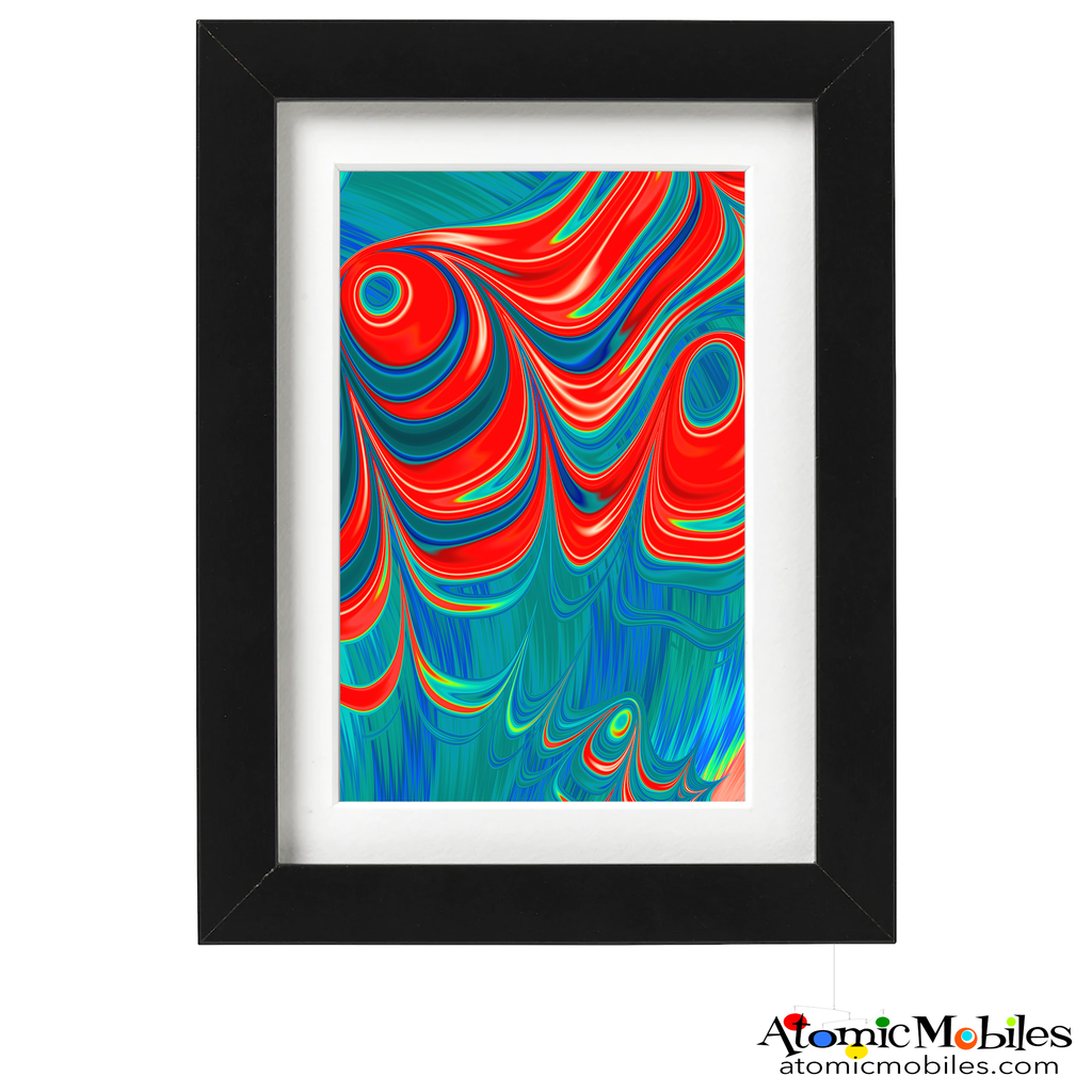 understand abstract art print by artist Debra Ann of AtomicMobiles.com - red, blue, green colorful art