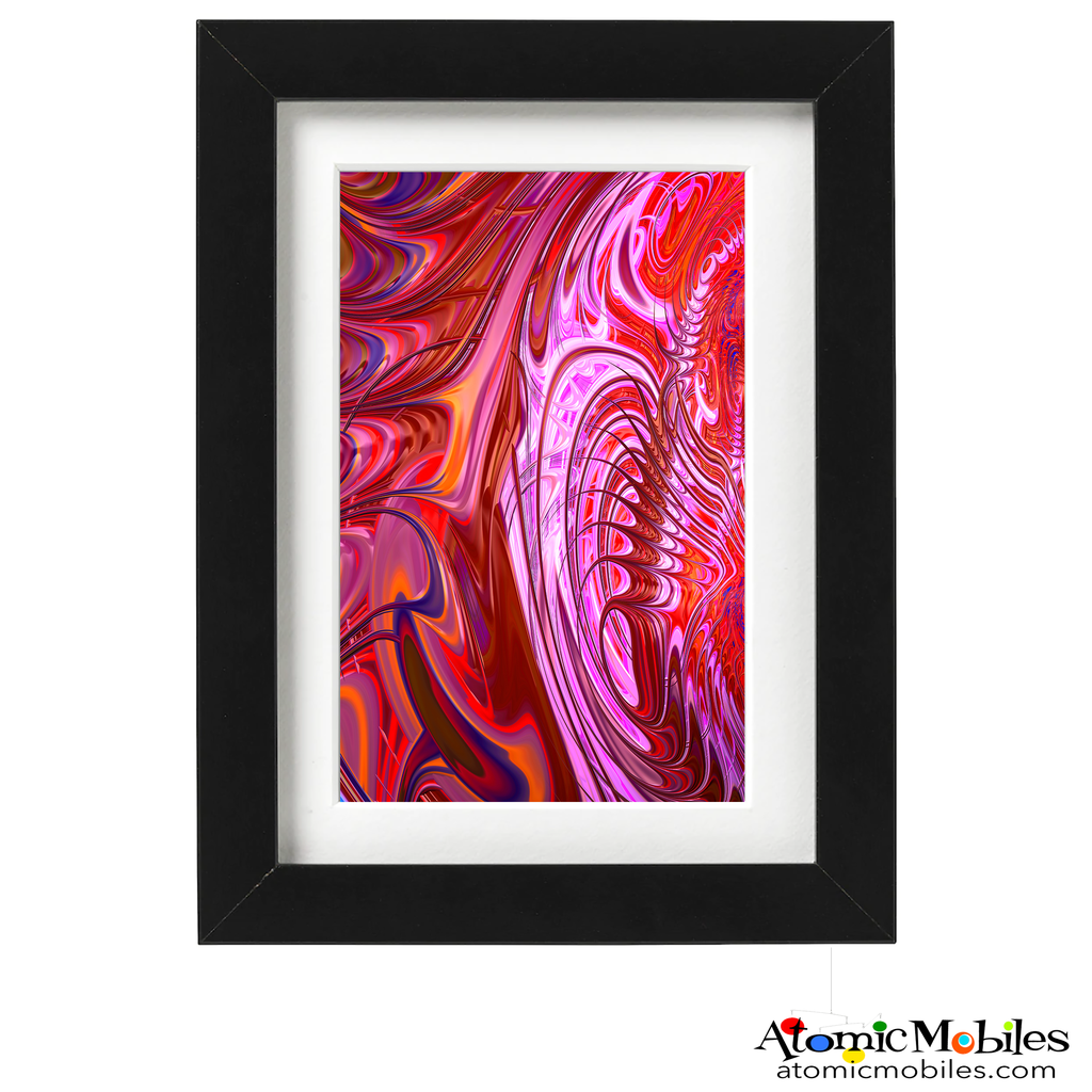 power abstract art print by artist Debra Ann of AtomicMobiles.com - red , purple, pink, orange, navy blue  colorful art