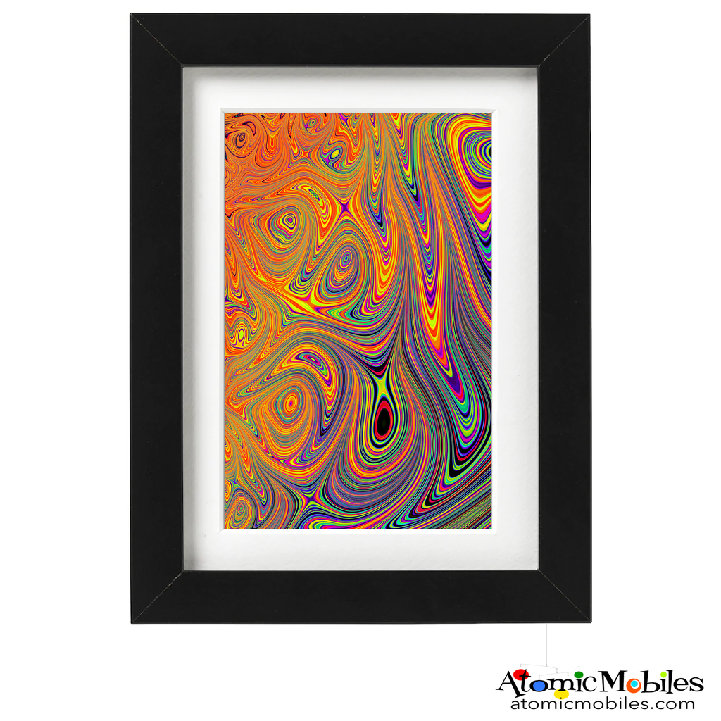 very abstract art print by artist Debra Ann of AtomicMobiles.com - swirly psychedelic colorful art