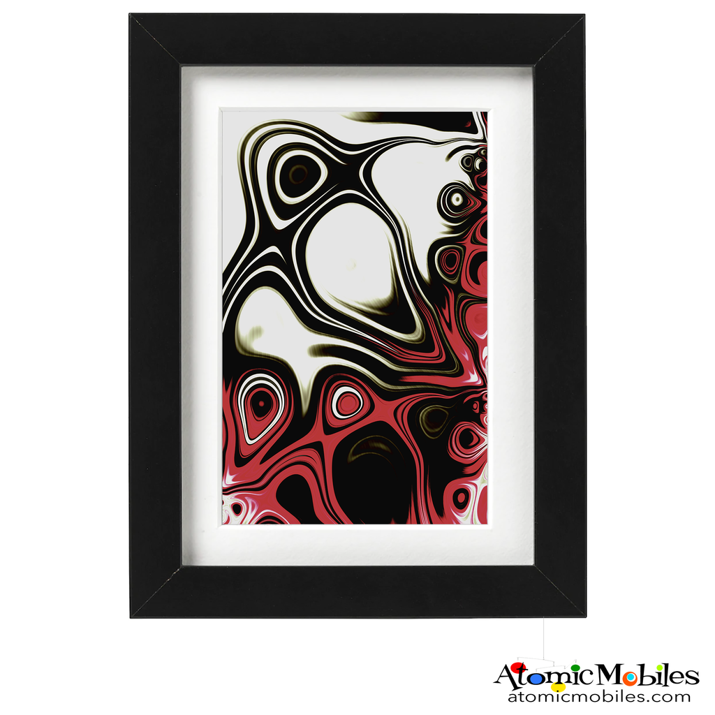seek abstract art print by artist Debra Ann of AtomicMobiles.com - red black and whitecolorful art