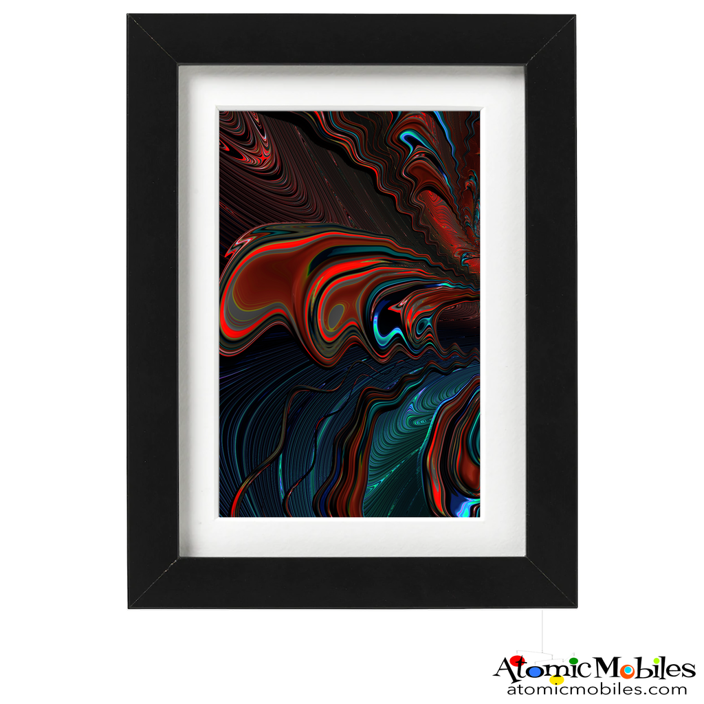 urge abstract art print by artist Debra Ann of AtomicMobiles.com - dark dramatic colorful art