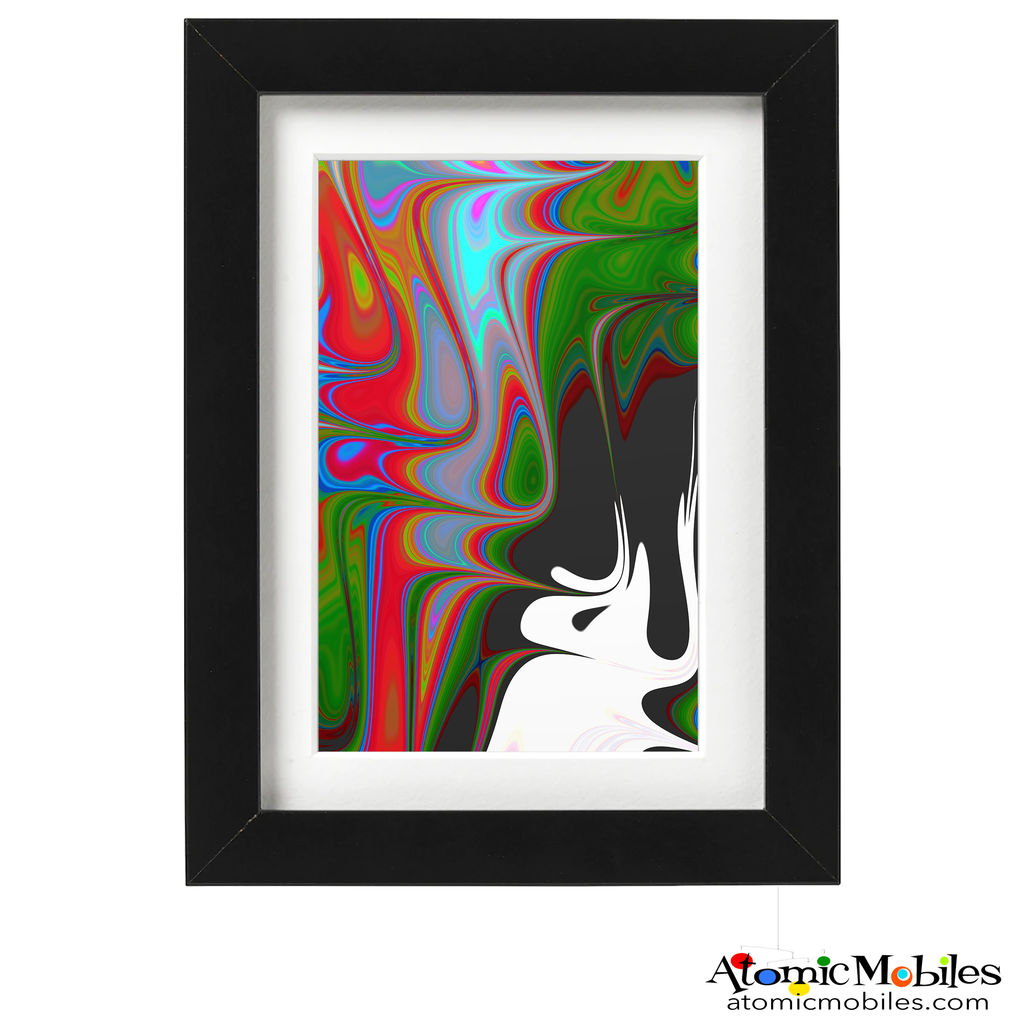 unity abstract art print by artist Debra Ann of AtomicMobiles.com - red, green, blue, purple, black, white bold colorful art