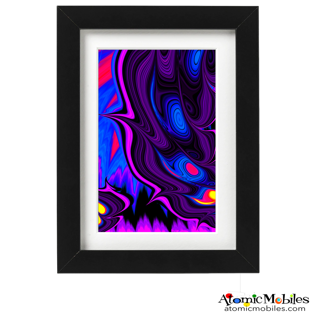 fervent abstract art print by artist Debra Ann of AtomicMobiles.com - red, pink, blue, purple, yellow colorful art