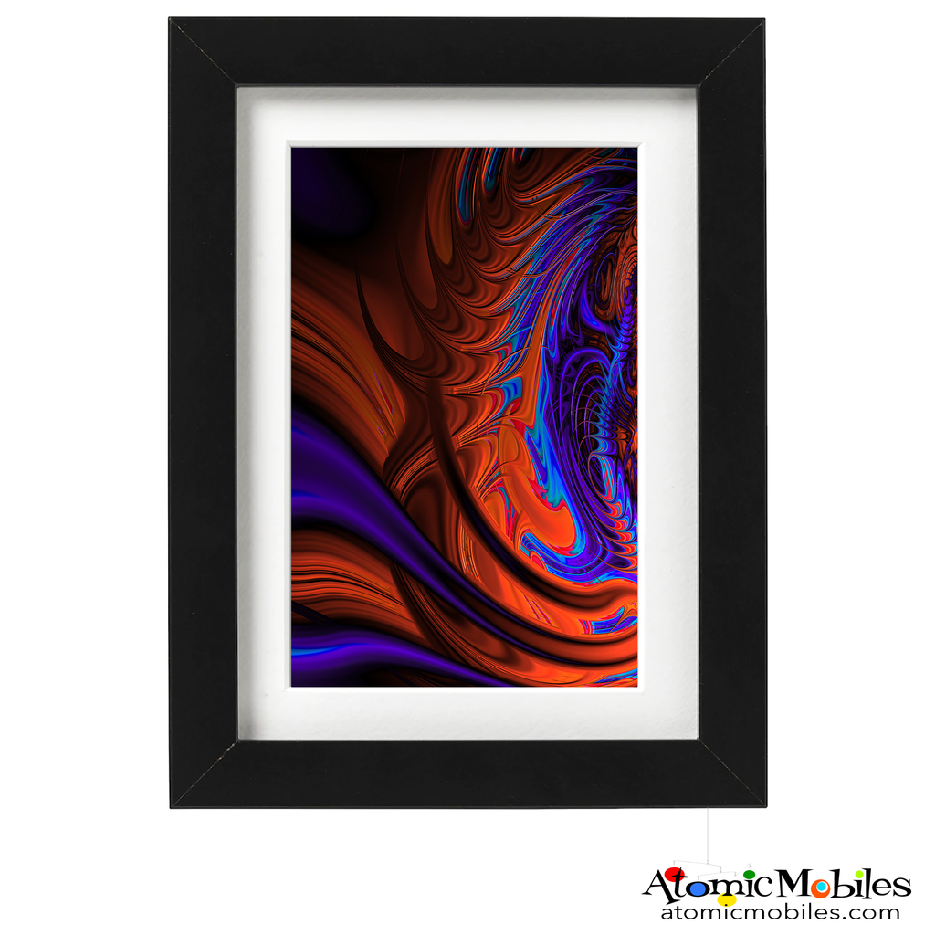 adagio abstract art print by artist Debra Ann of AtomicMobiles.com - purple, red, blue darkcolorful art