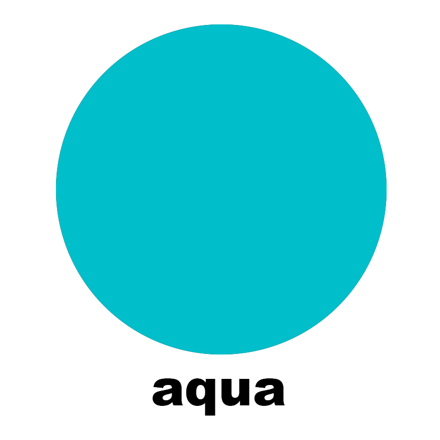 Aqua Sample Swatch Chip for Atomic Mobiles, Stabiles, Room Dividers, Wall Art, and Curtains by AtomicMobiles.com