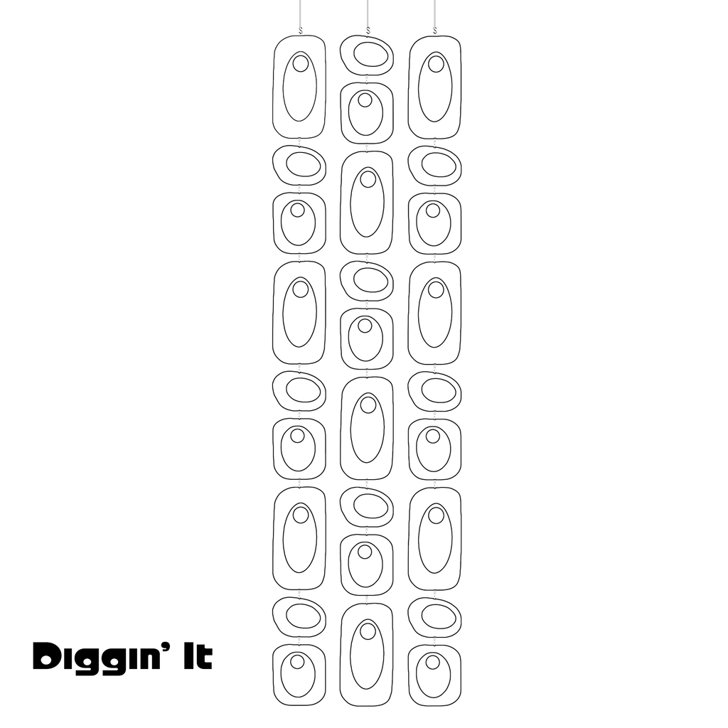 DIGGIN IT White Beatnik Party Atomic Room Divider Screen DIY Kit by AtomicMobiles.com