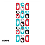 Large Beatnik Party Atomic Room Dividing Screen Kit in Red, Aqua, Gray, and Black by AtomicMobiles.com