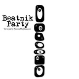 CUSTOM Beatnik Party Vertical Hanging Art Mobile - 1970s Retro Style -You choose the colors - Verticals by AtomicMobiles.com
