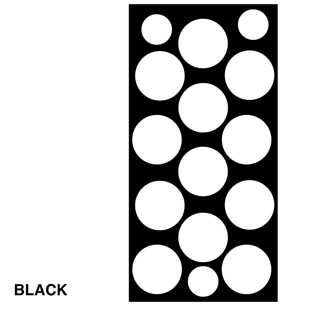 Black Polka Dots Retro Wall Tile by AtomicMobiles.com
