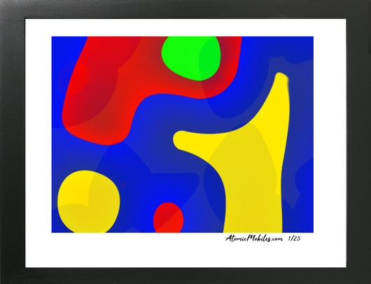 Color Art Modern Abstract Giclee Print by AtomicMobiles.com