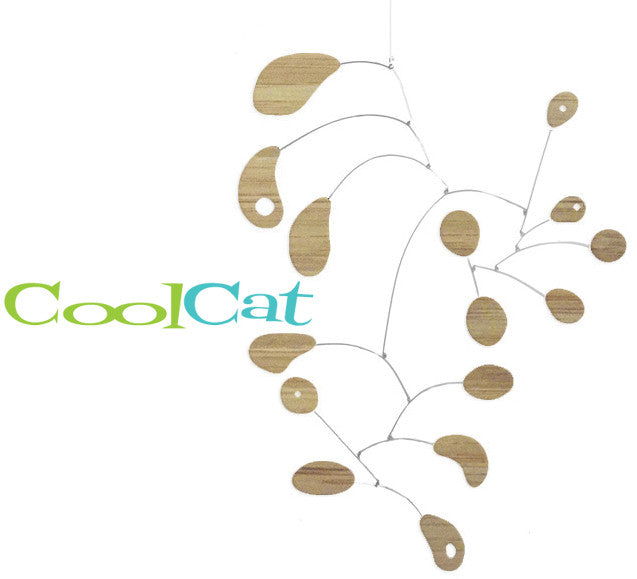 Bamboo CoolCat Mid Century Decor Sustainable Mobile