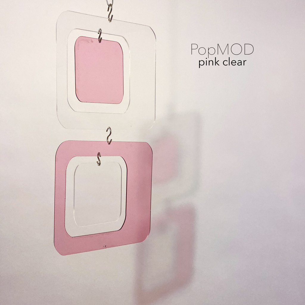 PopMOD DIY KITS - Pink and Clear Acrylic Coolsville Reflective Room Divider, Curtain, Partition, Wall Art, Mobile by AtomicMobiles.com
