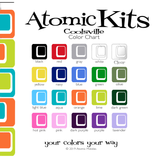 Atomic Kit Color Chart for Coolsville Room Dividers, Partitions, Screens, and mobiles by AtomicMobiles.com