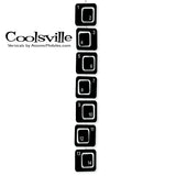 CUSTOM Coolsville Vertical Hanging Art Mobile - 1970s Retro Style - You Choose the Colors - Verticals by AtomicMobiles.com