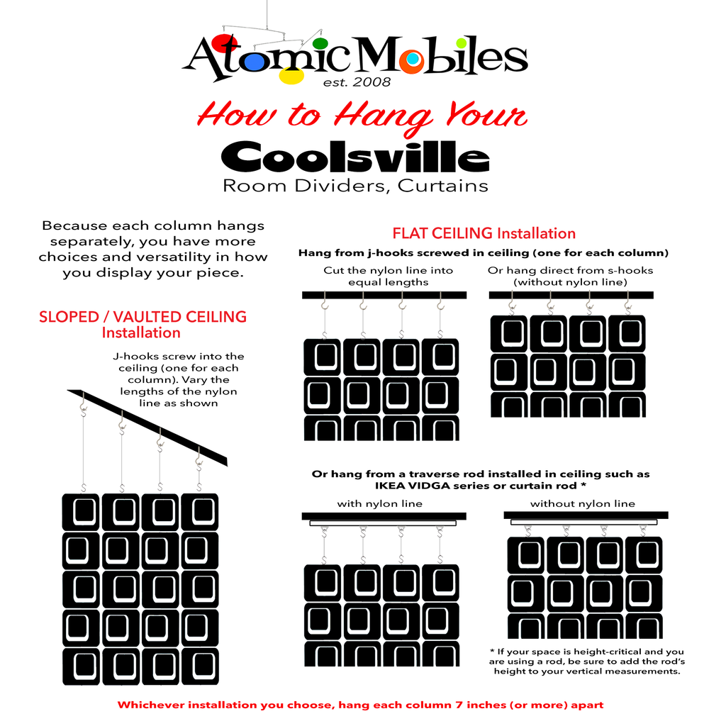 LGBTQ Rainbow Pride Coolsville Atomic Screens - assembled