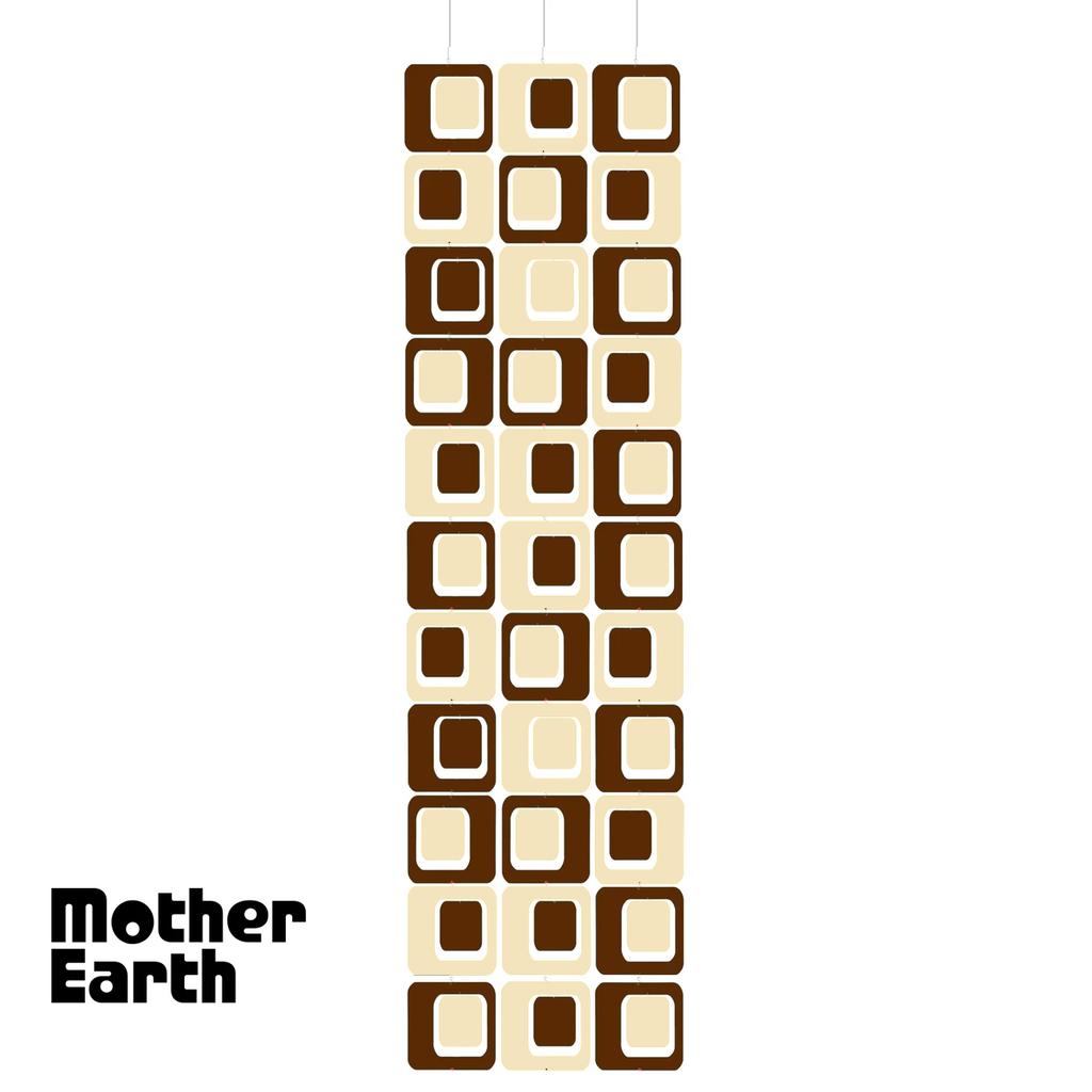 MOTHER EARTH Coolsville Atomic Room Dividing Screen Kit in Brown and Cream by AtomicMobiles.com