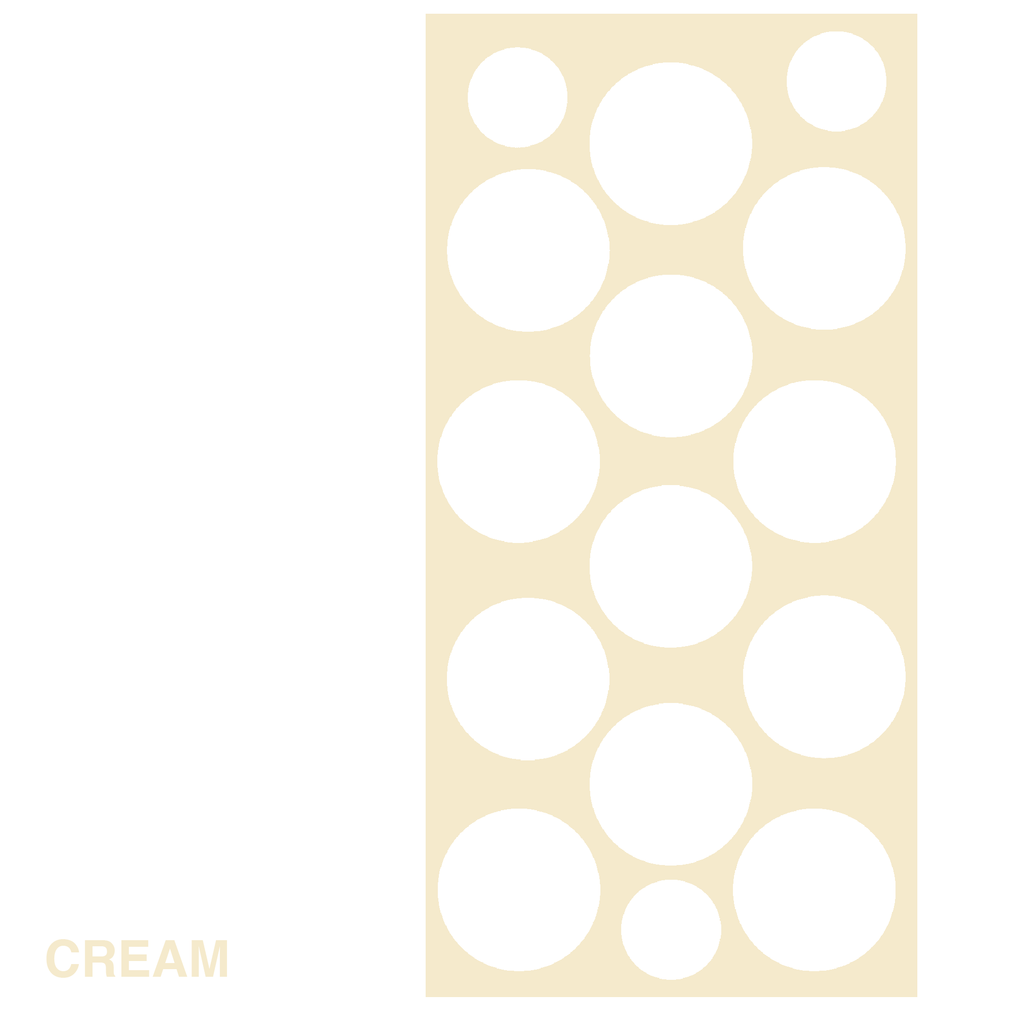 Cream Polka Dots Retro Wall Tile by AtomicMobiles.com