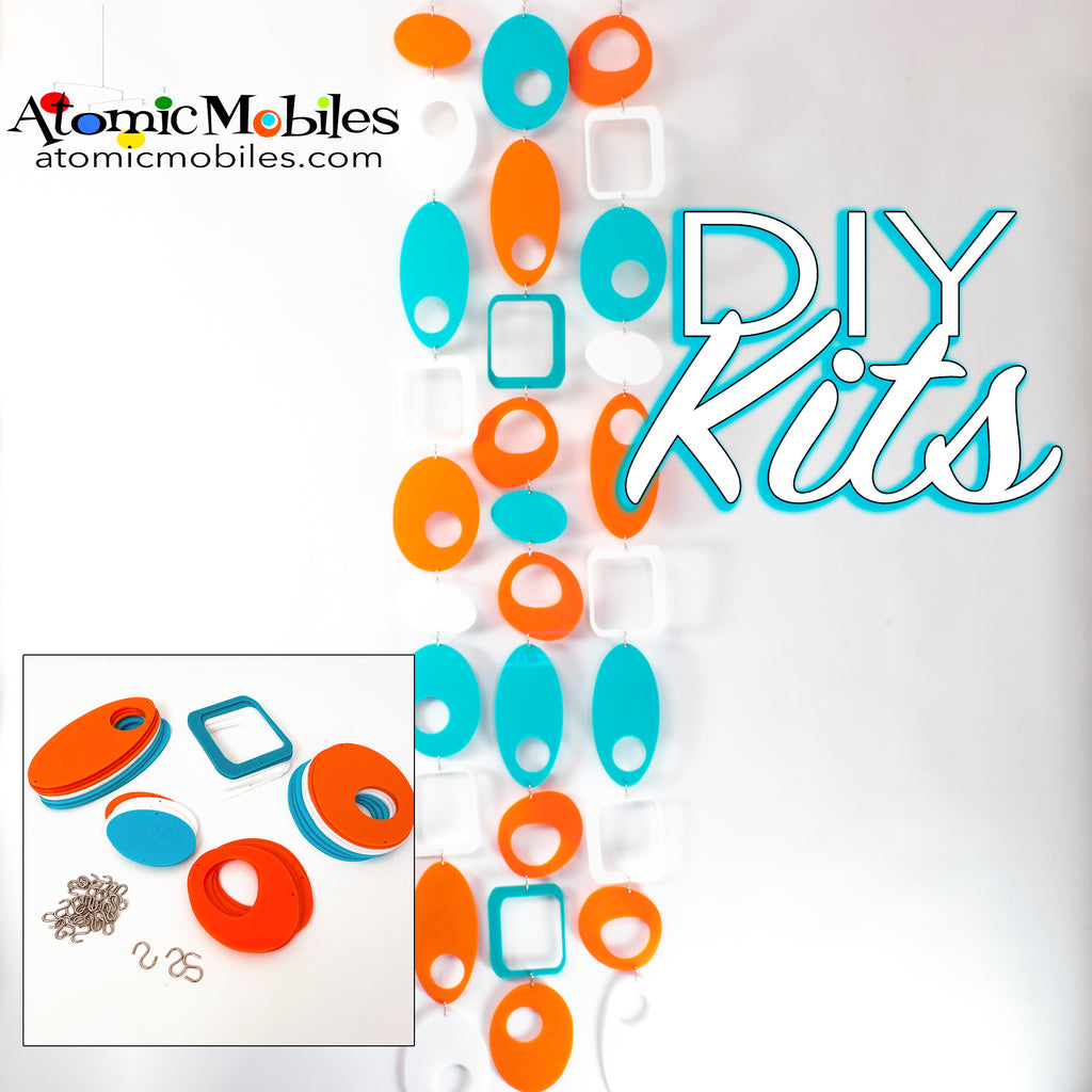 SALE! Mini POPdots DIY KIT Aqua Orange + White