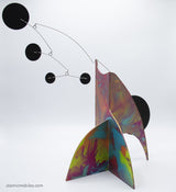 Eloquent Hand Painted Moderne Stabile Sculpture #1 - Atomic Mobiles Fine Art Series
