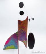 Eloquent Hand Painted Moderne Stabile Sculpture #2 - Atomic Mobiles Fine Art Series