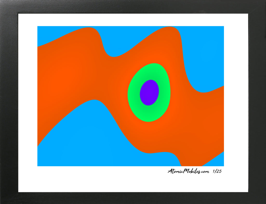 Go Fish Modern Abstract Giclee Print by AtomicMobiles.com