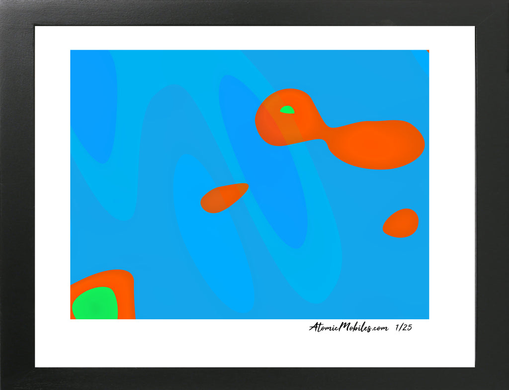 Go Gold Fish Modern Art Print