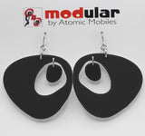 The Googie Statement Earrings in Bewitching Black - midcentury retro space age inspired dangle earrings - by AtomicMobiles.com