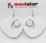 The Googie Statement Earrings in Witty White - midcentury retro space age inspired dangle earrings - by AtomicMobiles.com