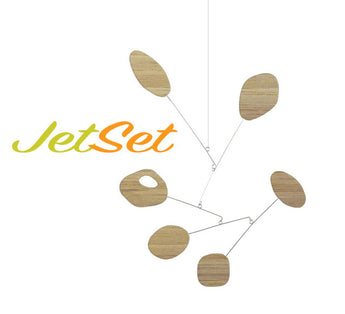 Bamboo JetSet Colorful Hanging Mobile by Atomic Mobiles