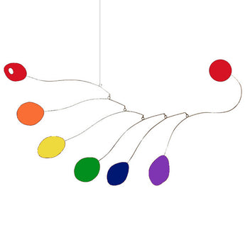 LGBT Pride Midcentury Hanging Art Mobile in Rainbow Flag Colors by AtomicMobiles.com