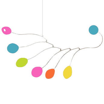 Midcentury Hanging Art Mobiles in bright fun colors by AtomicMobiles.com