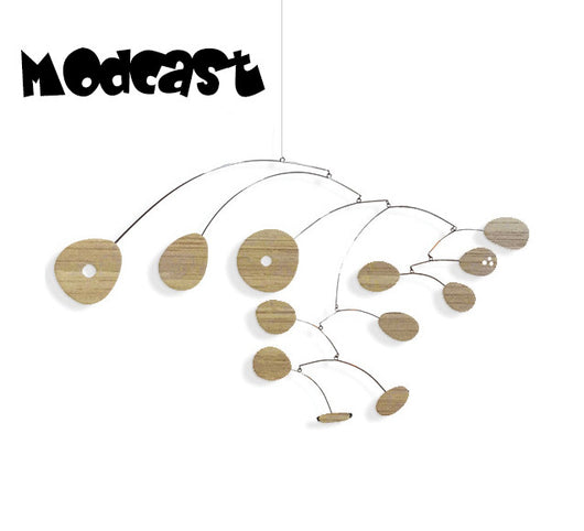 Bamboo Hanging Art Mobile - ModCast - Beautiful Natural Wood Mobiles