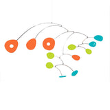Hanging Art Mobile - Palm Springs colors orange lime aqua - by Atomic Mobiles