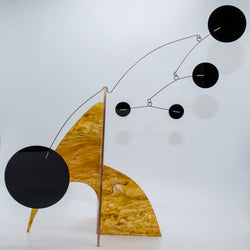Moderne Exotics Stabile - beautiful marbled gold - table top mobiles by AtomicMobiles.com