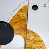 Moderne Exotics Stabile - beautiful marbled gold closeup - table top mobiles by AtomicMobiles.com