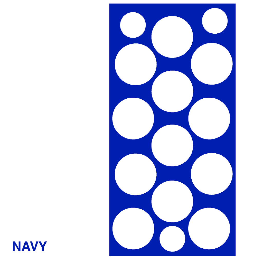 Navy Blue Polka Dots Retro Wall Tile by AtomicMobiles.com