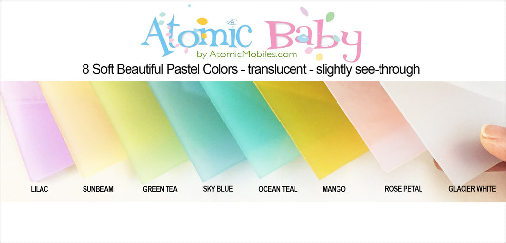 Atomic Mobiles Pastel Translucent Colors