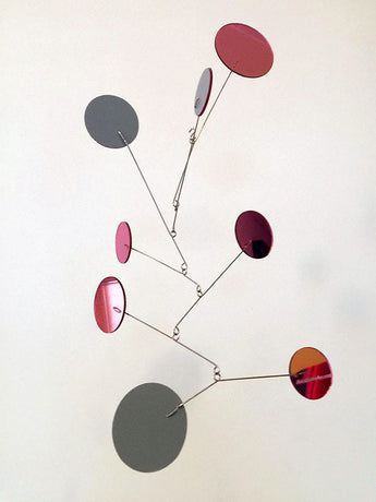 Beautiful Reflective Pink Mirror Exuberant Hanging Mobile by AtomicMobiles.com