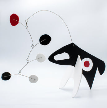 Quatorze: Le Chien - The Dog - kinetic modern art stabile animal sculpture by AtomicMobiles.com