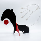 Abstract fox modern art kinetic stabile by AtomicMobiles.com